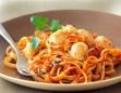 Fettucini Carrotini with Sauteed Scallops