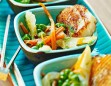 Grilled Scallops with Endive Carrot & Pea Salad